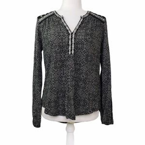 Lucky Brand Embroidered Boho Top   VGC